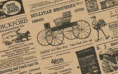"""""""Old Newspaper"""" Newsprint Gift Wrap Tissue Paper-Large 20 """"x 30"""" Choose Quantity"""