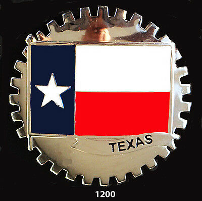 Usa State Car Grille   Badges - Texas(Flag)