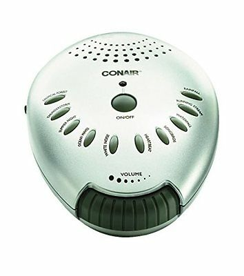 Conair Therapy Sound Machine White Noise Ocean Wave Sleep Soothing Mind