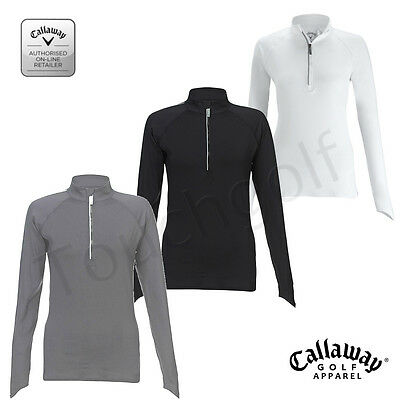 Callaway Golf Women/Ladies Long Sleeve ¼ Zip Sweater/Jumper -BEFB0072-New.