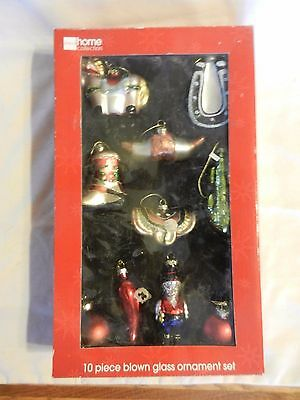10 Western Style Blown Glass Christmas Ornaments. JCPenney Home Collection