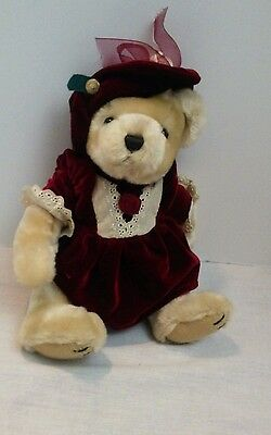 Collectable Plush PICKFORD BEARS PEARL THE BEAR OF WEALTH BRASS BUTTON