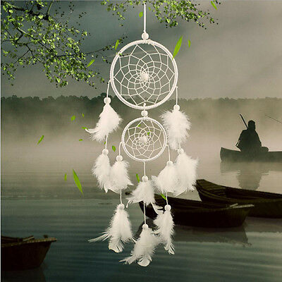 Handmade Dreamcatcher Car/Wall Hanging Ornament by Guineafowl Feather Gift #BM52