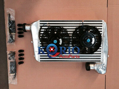 Aluminum INTERCOOLER & Fans FORD FALCON BA BF XR6 TURBO WITH MOUNTING KITS