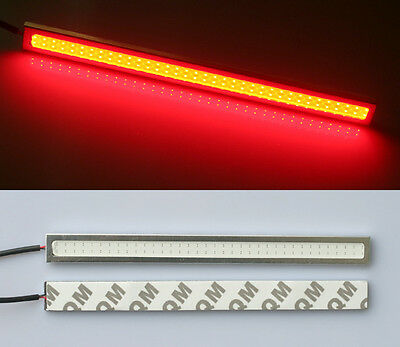 1x Red Waterproof 17cm COB DRL Daytime Running Light Auto LED Lamp for Car