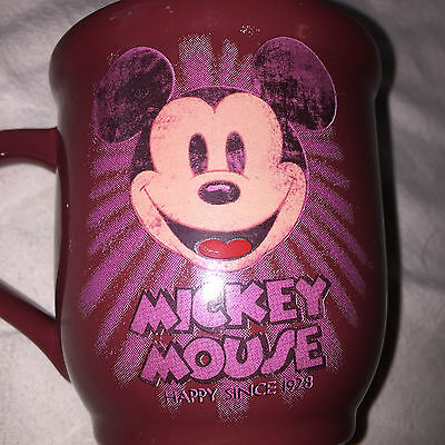Mickey Mouse Disney Store Exclusive Mug - Happy Since 1928 - Red Burgundy Cup
