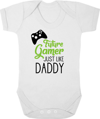 FUTURE GAMER JUST LIKE DADDY New Bodysuit/Vest/Grow, Baby Shower, Newborn Gift