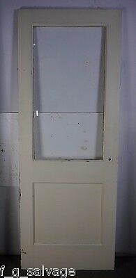 "Antique Vintage Door with Glass 30"" X 79-5/8"" (AG) Polhemus House Local Pickup"