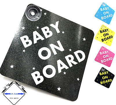 BABY ON BOARD - car sign with suction cups