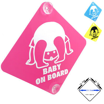 BABY ON BOARD - Sweet Baby - car window sign with suction cups