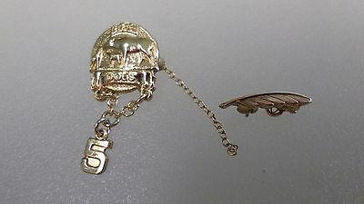 Vintage 10K Gold GF Elks Club Doe Pin With Feather A4386