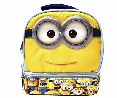 Disney Despicable Me Minion Minions Dome Lunchbox Lunch Bag-Brand New!