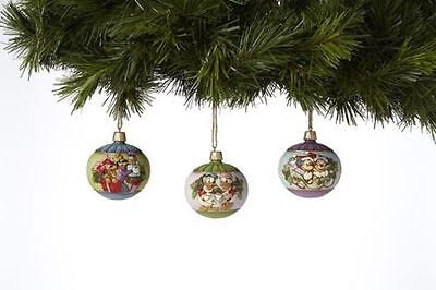 Disney Traditions Jim Shore Hanging Christmas Ball Ornaments 4039087 Channel Exc