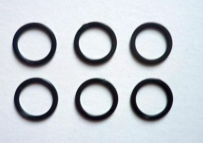 6 Piece Rings for Bra Bikini 12 mm Synthetic black