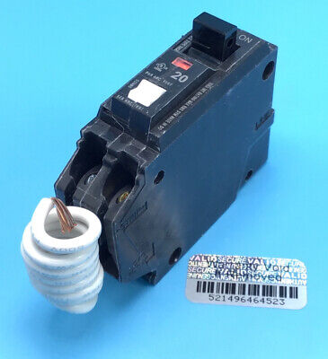 New Circuit Breaker GE THQL1120AF2 Combination AFCI 20 Amp 1 Pole THQL1120AFP2