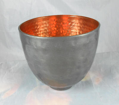 Fabulous  Roost of San Francisco Enameled Finish Hammered Copper  Footed Bowl