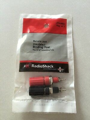 Banana Jack Insulated Binding Posts #274-0662 by RadioShack New!!!