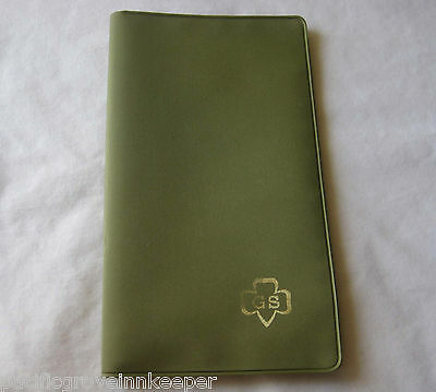 """1970s Girl Scout NOTEPAD CARD HOLDER """"Pocket-Pal"""" Monthly Planner NEW Notebook"""