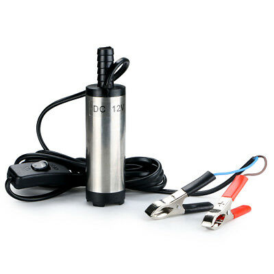 Submersible Pump 38mm Water Oil Diesel Fuel Transfer Refueling Tool DC 12V
