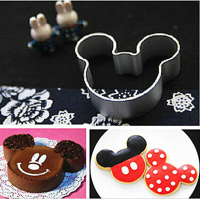Metal Mickey Mouse Shaped Cookie Pastry Dessert Cake Cutter Baking Mould