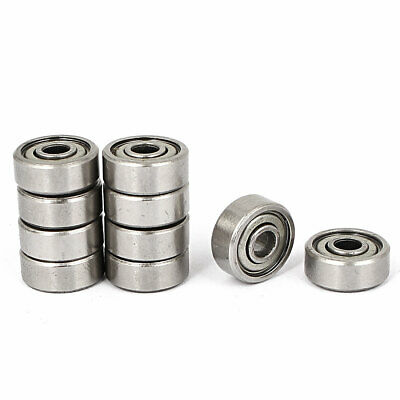 4mm x 13mm x 5mm Sealed Flanged Shielded Ball Bearing 624zz 10 Pcs