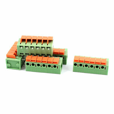 5 Pcs 5.08mm Pitch 2x6 Pin PCB Spring Type Plug-in Terminal Blocks Connectors