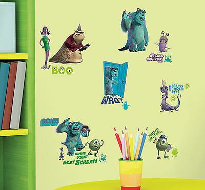 RoomMates Monsters Inc Peel & Stick Wall Decals Free Shipping New