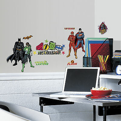 RoomMates Justice League Peel & Stick Wall Decals Free Shipping New