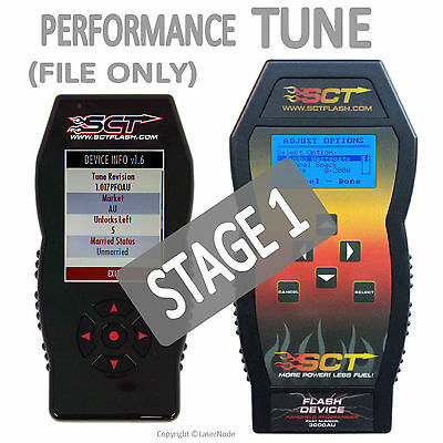 Ford BA BF FG XR6T Turbo XR8 FPV Stage 1 Performance Tune PCM ECU For SCT X3 X4
