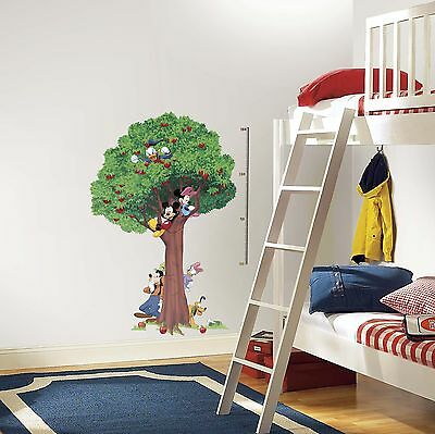 RoomMates Mickey & Friends Peel and Stick Metric Growth Chart Wall Decals Fr