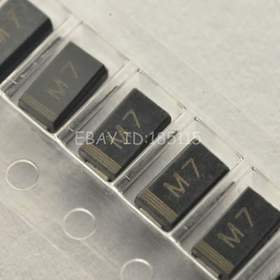 50PCS 1N4007 IN4007 M7 1A 1000V SMA DO-214AC SMD Rectifier Diode