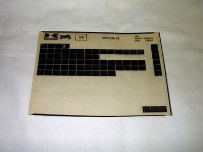 Kawasaki Kmx125 Kmx 125 B1 Gen Part Catalogue Microfiche