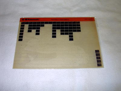 Kawasaki Kh125 Kh 125 L1 (Kh125Ex) Gen Part Catalogue Microfiche