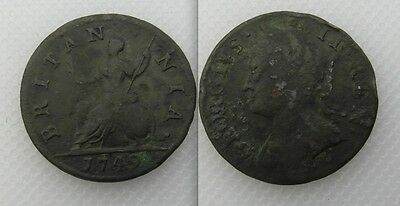 Collectable 1749 King George II Farthing Coin
