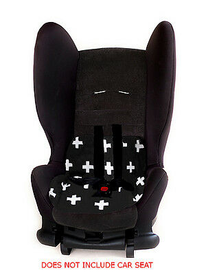 LIQUIDATION SALE! Car/Booster Seat Pad Protector - Black White Crosses RRP$35