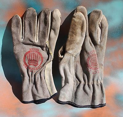 Union Pacific Leather Gloves, Large