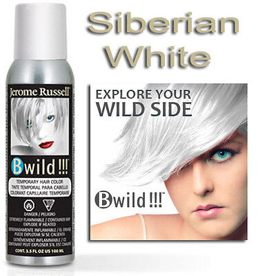 Jerome Russell B WILD TEMPORARY SPRAY HAIR COLOR SIBERIAN WHITE 3.5oz