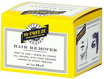 No Tweeze CLASSIC HARD WAX EASY HAIR REMOVER PURE BEESWAX 1 oz..