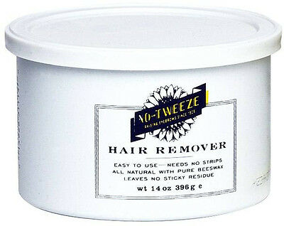 No Tweeze CLASSIC HARD WAX EASY HAIR REMOVER PURE BEESWAX 14 oz.