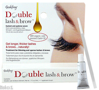 Godefroy Double lash & brow Eyelash and Eyebrow Serum   .1 oz./3ml