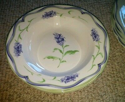 16pc LAURA ASHLEY MAYHILL Dinnerware * SPRING LILACS * PURPLE GREEN * PLATE BOWL : laura ashley dinnerware - pezcame.com