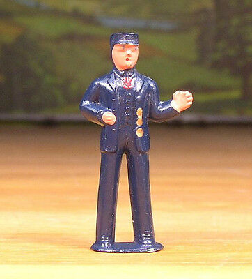 1950s BARCLAY METAL FIGURE LITTLE PEOPLE CONDUCTOR #353 O -S SCALE TRAIN LAYOUTS