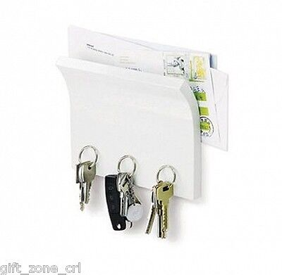 Umbra MAGNETTER - Magnetic KEY HOLDER and LETTER TRAY in WHITE