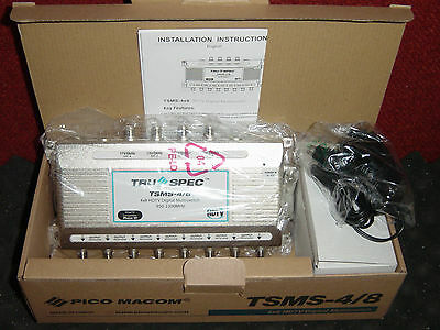 Shaw Direct 4x8 Pico Macom Quad & xKu Multiswitch Starchoice TSMS-4/8 4 in 8 out