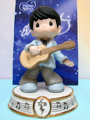 Precious Moments Elvis ~ King Of Rock And Roll ~ Blue Suit W/  Guitar   #123028