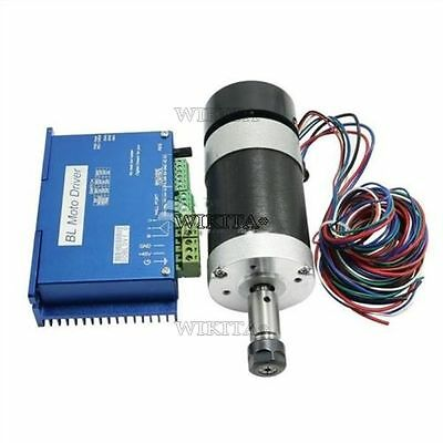 Cnc Machine 400W Spindle Motor + Ddbldv1.0 600W Cnc Brushless Dc Motor Driver P