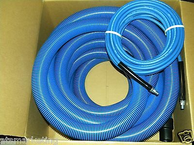 "Carpet Cleaning  2"" Truckmount Vacuum Hose and 1/4"" Solu Hoses 50' Blue"