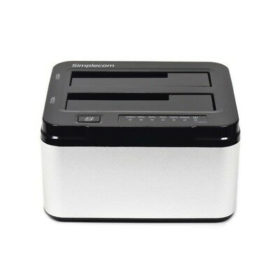 "Aluminium Dual Bay USB 3.0 Docking Station 2.5"" or 3.5"" SATA HDD Hard Disk Drive"