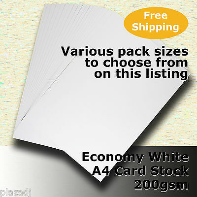 Economy Card Stock WHITE A4 Size 200gsm #H5208