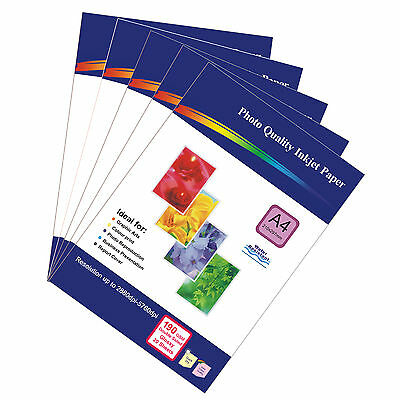 100 Sheets of Double-sided A4 190gsm High Quality Glossy Photo Paper for Inkjet